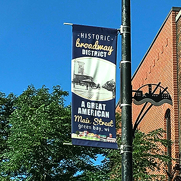 Two-Sided Light Post Banner