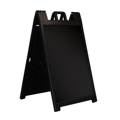 Black Deluxe A-Frame Sign